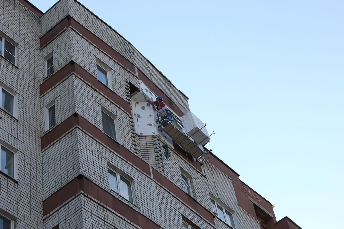 Утепление фасада пенопластом и короедом